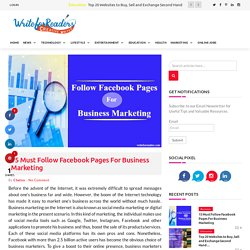 Top Facebook Pages For Business Marketing
