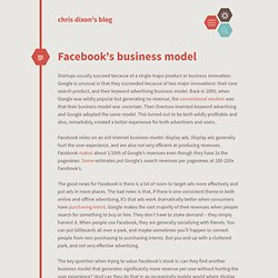 Facebook's business model