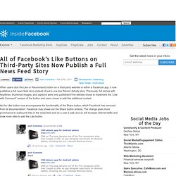All of Facebook's Like Buttons on Third-Party Sites Now Publish a Full News Feed Story