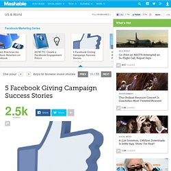 5 Facebook Giving Campaign Success Stories