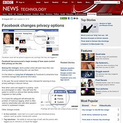 Summify - BBC News - Facebook changes privacy settings
