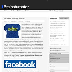 Facebook, the CIA, and You. // Brainsturbator