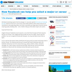 How Facebook can help you select a major or career