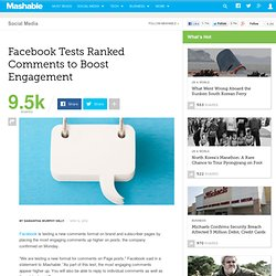 Facebook Tests Ranked Comments to Boost Engagement