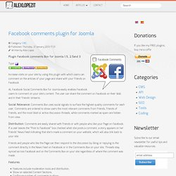 Facebook comments plugin for Joomla