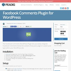 Facebook Comments WordPress Plugin by Pleer