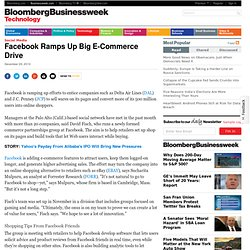 Facebook Ramps Up Big E-Commerce Drive