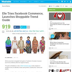Elle Tries Facebook Commerce, Launches Shoppable Trend Guide