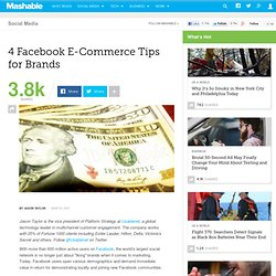4 Facebook E-Commerce Tips for Brands