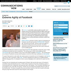 Extreme Agility at Facebook | blog@CACM | Communications of the