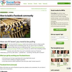 How to build a Facebook community