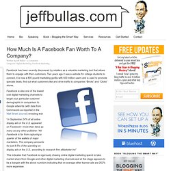 How Much Is A Facebook Fan Worth To A Company?