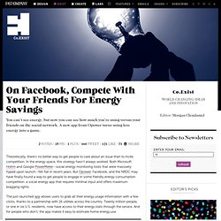 On Facebook, Compete With Your Friends For Energy Savings