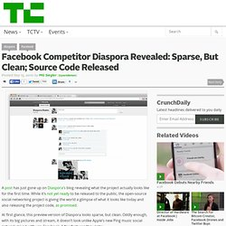 Facebook Competitor Diaspora Revealed: Sparse, But Clean; Source Code Released