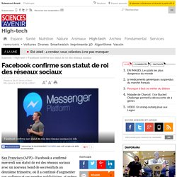 Facebook confirme son statut de roi des réseaux sociaux