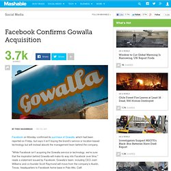 Facebook's Adqui-hire of Gowalla Confirmed