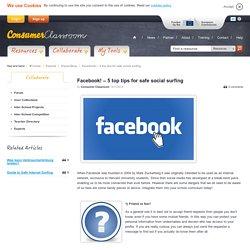 Facebook! – 5 top tips for safe social surfing