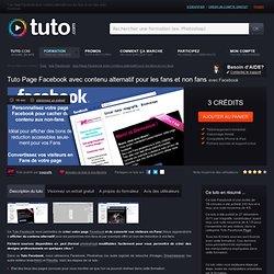 page facebook avec contenu alternatif pour les fans et non fans avec Facebook sur Tuto