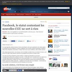 Facebook, le statut contestant les nouvelles CGU ne sert à rien