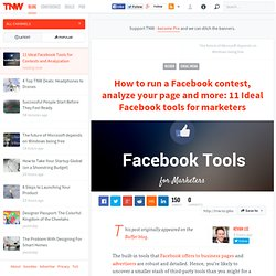 11 Ideal Facebook Tools for Contests and Analyzation