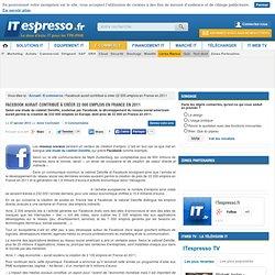 Facebook aurait contribué à créer 22 000 emplois en France en 2011