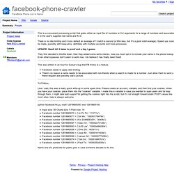 facebook-phone-crawler - FaceBook Phone List to Name