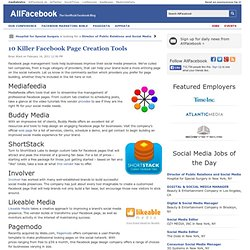 10 Killer Facebook Page Creation Tools