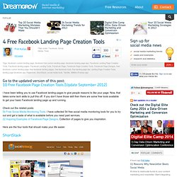 4 Free Facebook Landing Page Creation Tools
