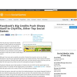 Facebook's Big Credits Push Shows Itself in CityVille, Other Top Social Games