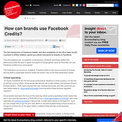 How can brands use Facebook Credits?