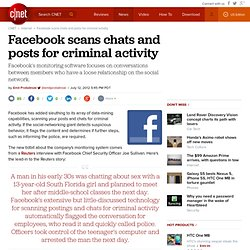Facebook scans chats and posts for criminal activity