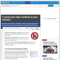 7 razones para dejar o borrar Facebook