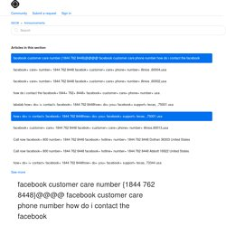 facebook customer care number {1844 762 8448}@@@@ facebook customer care phone number how do i contact the facebook – SEO8