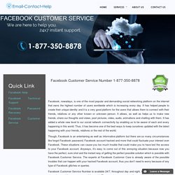 Facebook Customer Care Service 1-877-776-6261 Contact Number