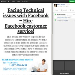 Facebook Customer Service 1-877-788-9452