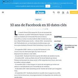 10 ans de Facebook en 10 dates clés - Le Parisien