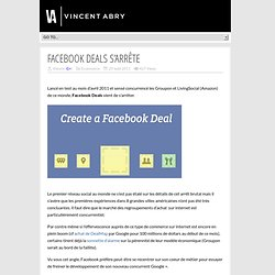Facebook Deals s'arrête