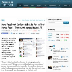 How Facebook Decides What To Put In Your News Feed – These 10 Secrets Reveal All