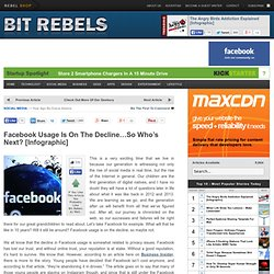 Facebook Usage Is On The Decline...So Who's Next? [Infographic]