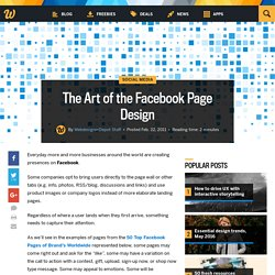 The Art of the Facebook Page Design