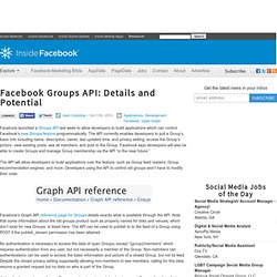Facebook Groups API: Details and Potential