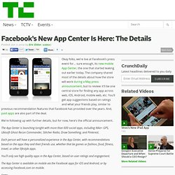 Facebook's New App Center Is Here: The Details