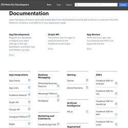 Documentazione per gli sviluppatori di Facebook