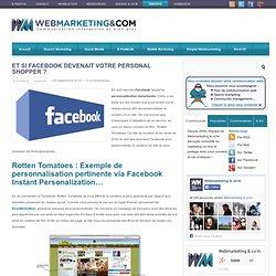 Et si Facebook devenait votre personal shopper ?