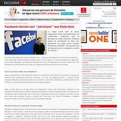 """Facebook dévoile son """"job-board"""" aux Etats-Unis"""