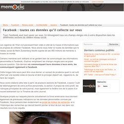 Facebook : toutes ces données qu'il collecte sur vous