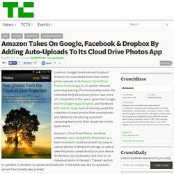 Amazon Takes On Google, Facebook & Dropbox By Adding Auto-Uploads To Its Cloud Drive Photos App