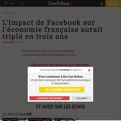 L'impact de Facebook sur l'économie française aurait triplé en trois ans