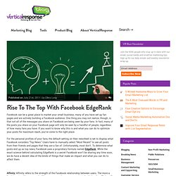How to Use Facebook EDGERANK