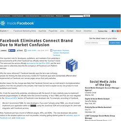 Facebook Eliminates Connect Brand Due to Market Confusion